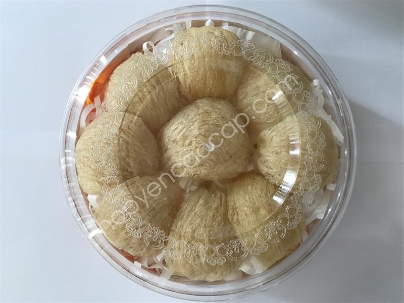 Hộp nhựa hình tròn đựng 100g Yến _ Mã: 002