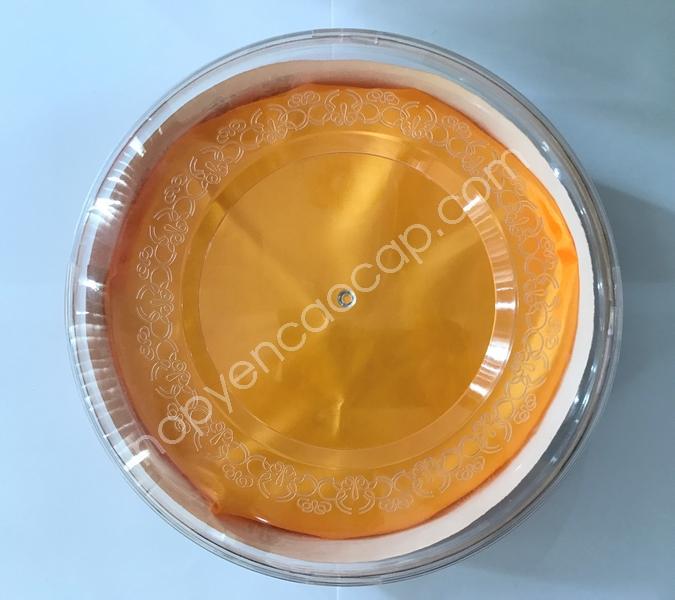Hộp nhựa hình tròn đựng 200g Yến _ Mã: 001